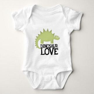 dinosaur love baby bodysuit