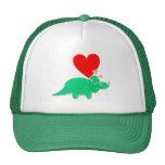 Dinosaur Love Heart Triceratops Cap Trucker Hat