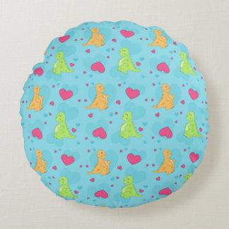 Dinosaur Love Round Pillow