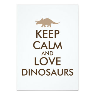 Dinosaur Lover Gift Keep Calm Triceratops Custom Card
