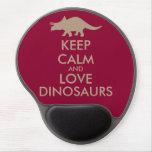 Dinosaur Lover Gift Keep Calm Triceratops Custom Gel Mouse Pad