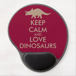 Dinosaur Lover Gift Keep Calm Triceratops Custom Gel Mouse Pad