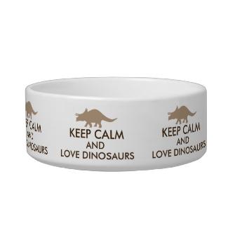 Dinosaur Lover Gift Keep Calm Triceratops Custom