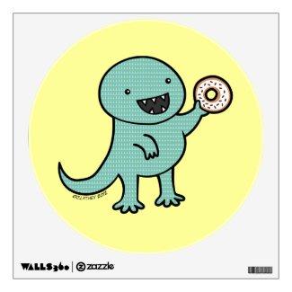 Dinosaur Loves Donuts Wall Graphic