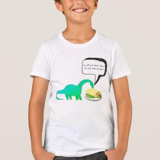 Dinosaur Lunch Break Burrito Funny T-Shirt