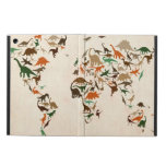 Dinosaur Map of the World Map iPad Air Covers