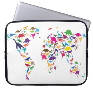 Dinosaur Map of the World Map Laptop Computer Sleeves