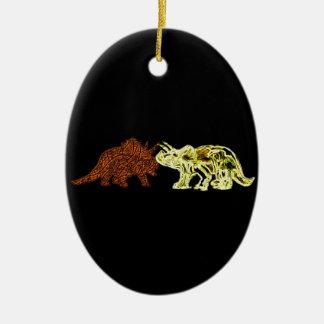 Dinosaur Mates Ceramic Ornament