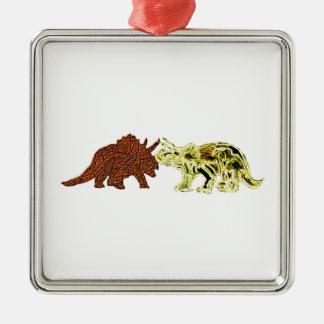 Dinosaur Mates Metal Ornament