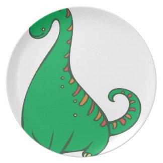 Dinosaur Melamine Plate