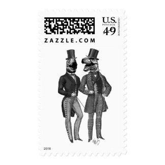 Dinosaur Men Lads Night Out Stamp
