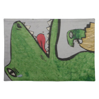 Dinosaur mom and her baby - cloth place mat