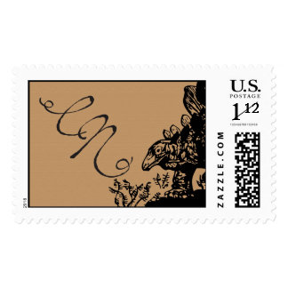 Dinosaur monogram stamp