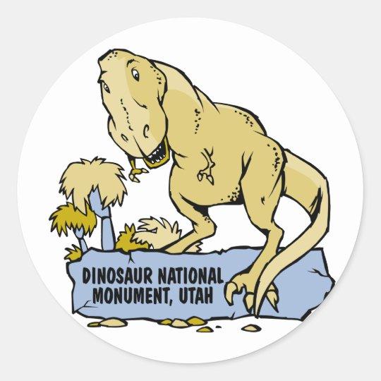Dinosaur National Monument Classic Round Sticker