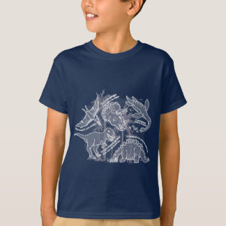 Dinosaur navy / grey t-shirt