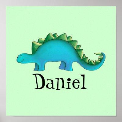 dinosaur nursery 11x11 canvas