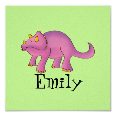 dinosaur nursery 11x11 canvas art   triceratops poster by puregracedesigns