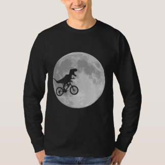 Dinosaur on a Bike In Sky With Moon Shirt