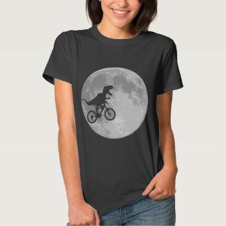 Dinosaur on a Bike In Sky With Moon Shirt