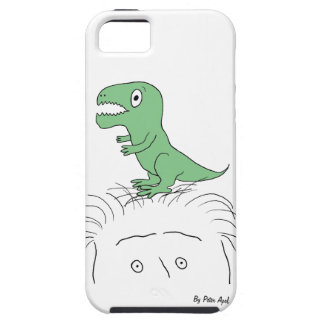 Dinosaur on My Head! iPhone 5 Case-Mate Tough