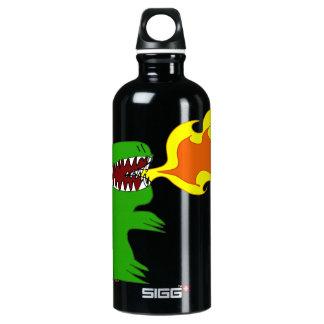 Dinosaur or Dragon Art by little t and Rene Lopez Aluminum Water Bottle