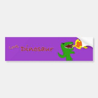 Dinosaur or Dragon Art by little t and Rene Lopez Bumper Sticker