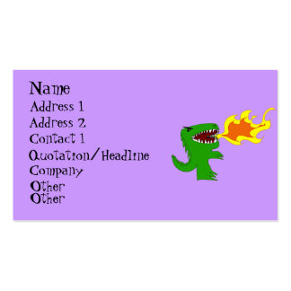 Dinosaur or Dragon Art by little t and Rene Lopez Business Card