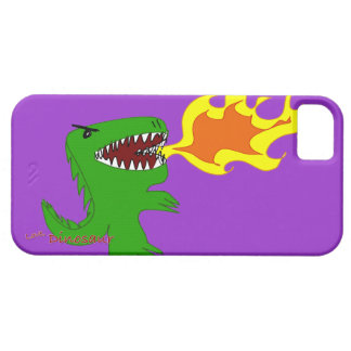 Dinosaur or Dragon Art by little t and Rene Lopez iPhone 5 Cover