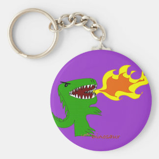 Dinosaur or Dragon Art by little t and Rene Lopez Key Chains