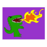 Dinosaur or Dragon Art by little t and Rene Lopez Post Cards
