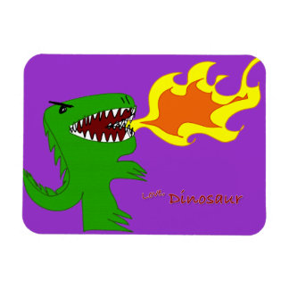 Dinosaur or Dragon Art by little t and Rene Lopez Vinyl Magnets