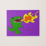 Dinosaur or Dragon Art by little t and Rene Lopez Jigsaw Puzzle