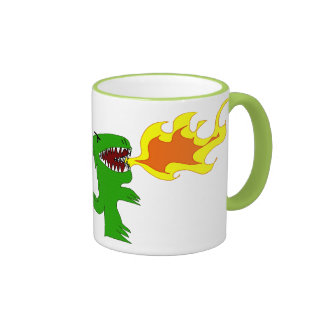 Dinosaur or Dragon Art by little t and Rene Lopez Ringer Mug