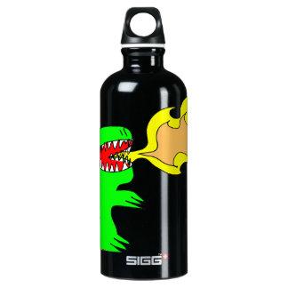 Dinosaur or Dragon Art by little t + Joseph Adams Aluminum Water Bottle