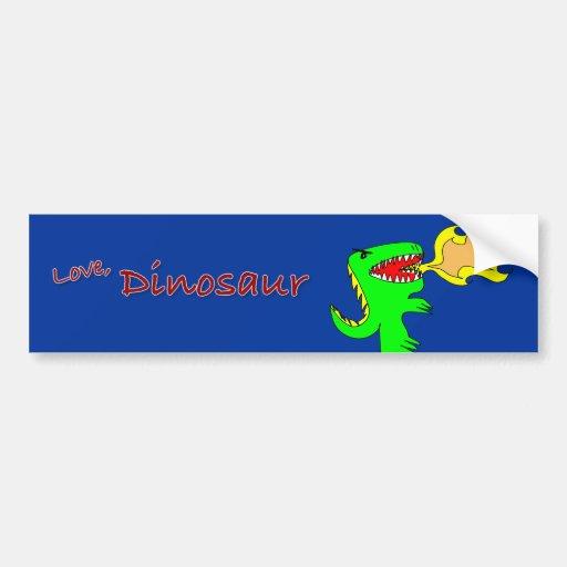 Dinosaur or Dragon Art by little t + Joseph Adams Bumper Sticker