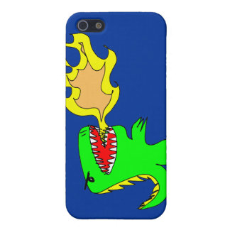 Dinosaur or Dragon Art by little t + Joseph Adams Cover For iPhone SE/5/5s