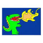"Dinosaur or Dragon Art by little t + Joseph Adams 3.5"" X 5"" Invitation Card"