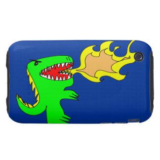 Dinosaur or Dragon Art by little t + Joseph Adams iPhone 3 Tough Cover