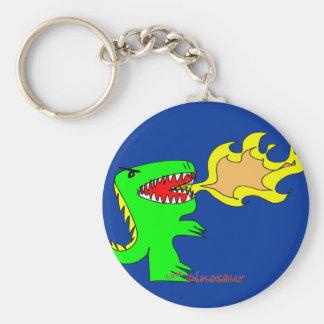 Dinosaur or Dragon Art by little t + Joseph Adams Keychain