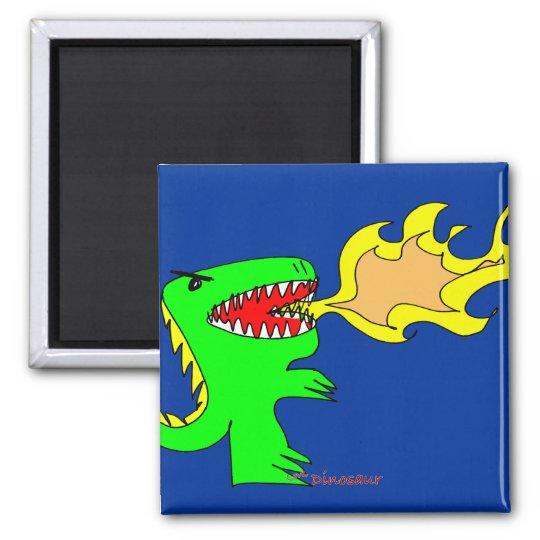 Dinosaur or Dragon Art by little t + Joseph Adams Magnet