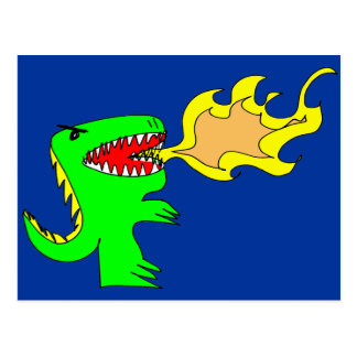 Dinosaur or Dragon Art by little t + Joseph Adams Postcard