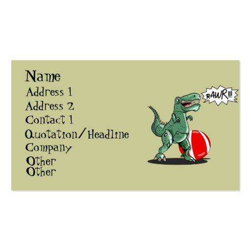 Dinosaur or Dragon Art by Luis Julián Torruellas Double-Sided Standard Business Cards (Pack Of 100)
