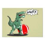 Dinosaur or Dragon Art by Luis Julián Torruellas 5x7 Paper Invitation Card