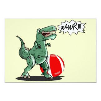 "Dinosaur or Dragon Art by Luis Julián Torruellas 3.5"" X 5"" Invitation Card"