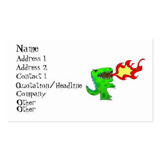 Dinosaur or Dragon by Jessica Jimerson - 2 Business Cards