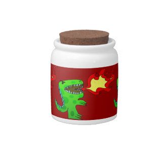 Dinosaur or Dragon by Jessica Jimerson - 2 Candy Dish