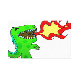 Dinosaur or Dragon by Jessica Jimerson - 2 Gallery Wrapped Canvas