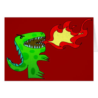 Dinosaur or Dragon by Jessica Jimerson - 2 Greeting Cards