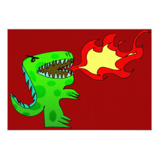 Dinosaur or Dragon by Jessica Jimerson - 2 Invite