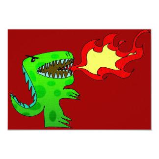 "Dinosaur or Dragon by Jessica Jimerson - 2 3.5"" X 5"" Invitation Card"